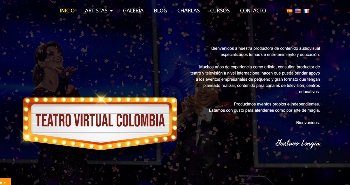 Web Teatro Virtual Colombia